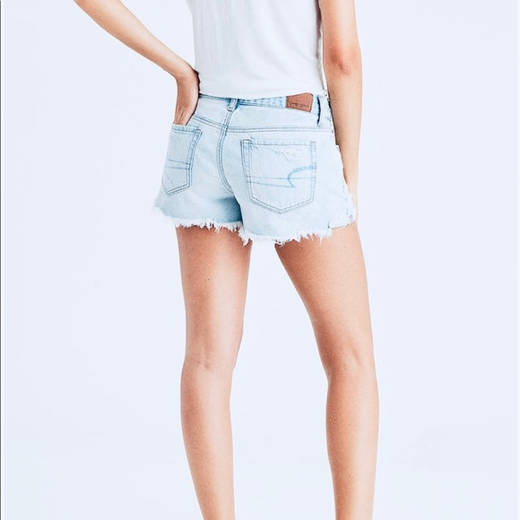American eagle tomgirl shortie jean shorts size 12